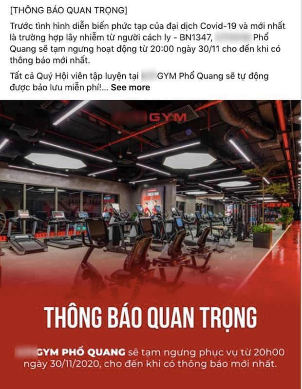 Một phòng gym ở TP.HCM phải ngưng hoạt động vì giáo viên tiếng Anh nhiễm Covid-19 từng đến-1