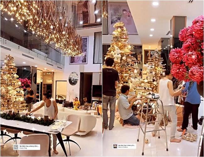 Sao Việt trang trí nhà cửa đón Giáng sinh: Không ai chịu chơi hơn Ngọc Trinh-5