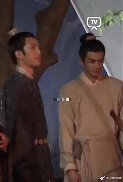 Tống Uy Long và Tỉnh Bách Nhiên nô đùa trong hậu trường phim đam mỹ Trương Công Án-3