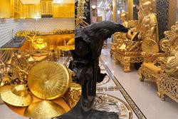 Dân mạng choáng ngợp ngôi nhà dát vàng ở Cần Thơ, riêng nội thất mất 2 năm hoàn thiện