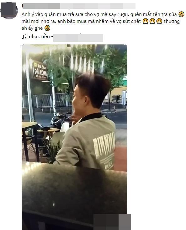 Người đàn ông say rượu nhưng vẫn cố ghé vào quán mua trà sữa cho cô sư tử Hà Đông ở nhà, nghe đến lý do ai cũng bất ngờ-1