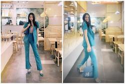 Mặc quần bó, đi giày cao, Hương Giang catwalk suýt ngã