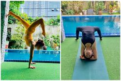 Ở tuổi 63, mẹ Hà Hồ gây choáng khi thực hiện tư thế yoga cực khó