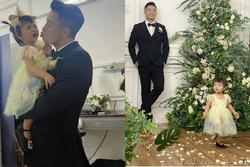 Vào TP.HCM chụp ảnh cưới với bố mẹ, biểu cảm không hợp tác của con gái Tiến Dũng gây bão