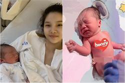 Mẹ con Kỳ Hân lộ diện sau 10 tiếng vật vã 'vượt cạn'