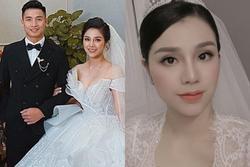 Ảnh cưới Bùi Tiến Dũng: Chú rể đẹp trai ngời ngời, cô dâu photoshop đến biến dạng
