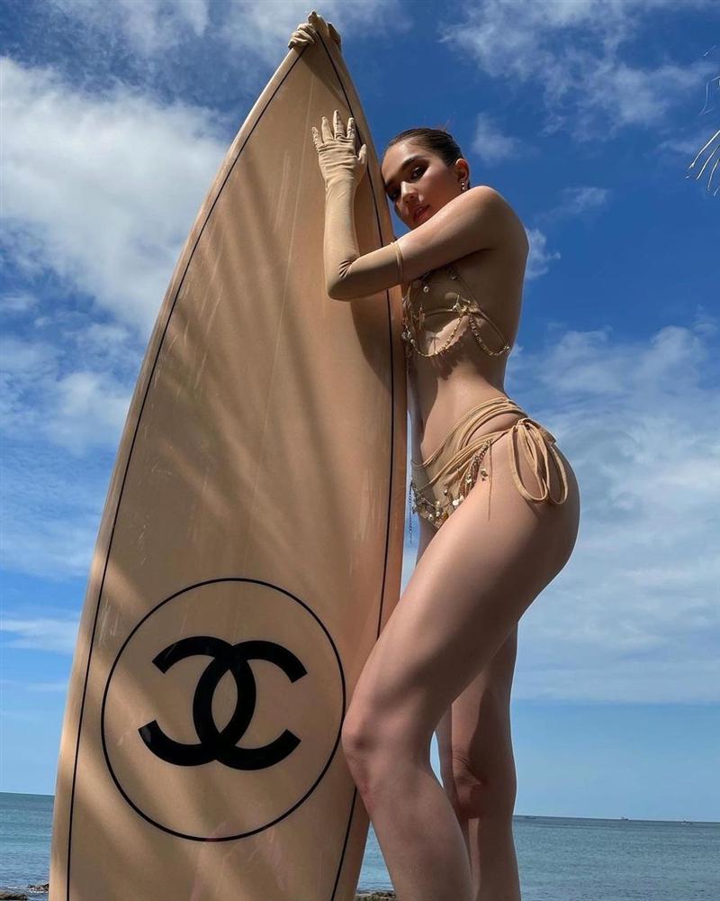 Ngọc Trinh diện bikini nude nhìn thoáng tưởng không mặc gì-3