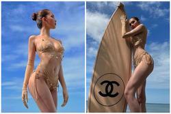 Ngọc Trinh diện bikini nude nhìn thoáng tưởng không mặc gì