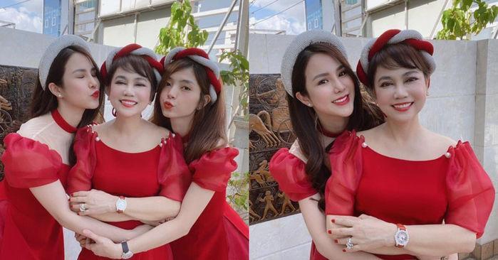 Mẹ chồng Diệp Lâm Anh trẻ đẹp khó tin, chụp cùng con dâu mà như chị em-3