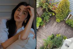 Khu vườn tuyệt đẹp của Tăng Thanh Hà từ góc nhìn trên cao