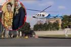 Đám cưới đi bằng trực thăng, cô dâu đeo vàng trĩu cổ gây sốt mạng xã hội