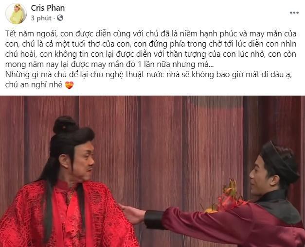 Midu cùng loạt hot girl - hot boy Việt gục ngã nghe tin nghệ sĩ Chí Tài qua đời-3