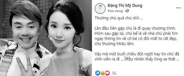 Midu cùng loạt hot girl - hot boy Việt gục ngã nghe tin nghệ sĩ Chí Tài qua đời-1
