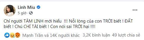 Hot girl Linh Miu ăn đá tảng khi viết chúc mừng sự ra đi của nghệ sĩ Chí Tài-4