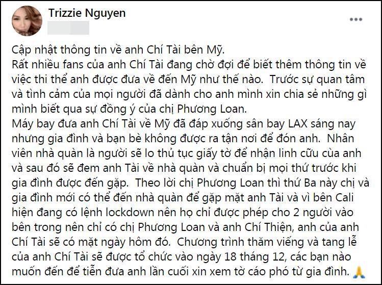 Vợ cố nghệ sĩ Chí Tài chưa được gặp chồng dù máy bay đã hạ cánh-3