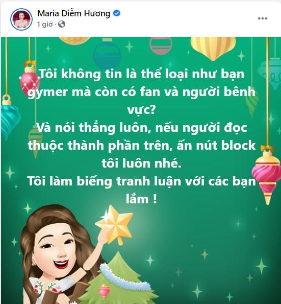Diễm Hương bức xúc khi gymer xúc phạm vợ nghệ sĩ Chí Tài được bênh vực-1