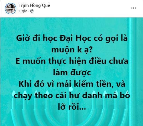 Hồng Quế muốn học Đại học, dàn sao Việt phản ứng bất ngờ-1