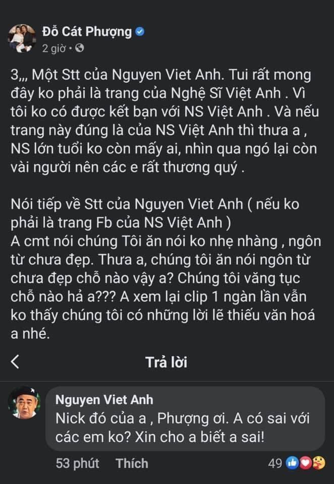 Cát Phượng công khai xin lỗi NSND Việt Anh nhưng vẫn bị nhắc nhở-3