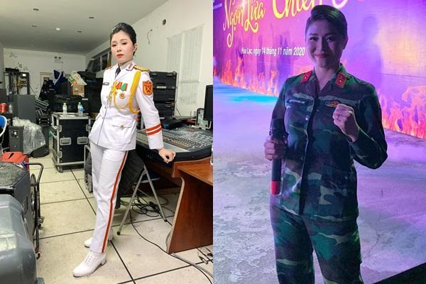 Lần hiếm hoi MC Hoàng Linh để lộ hình xăm hổ báo khi ghi hình-5