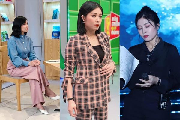 Lần hiếm hoi MC Hoàng Linh để lộ hình xăm hổ báo khi ghi hình-6