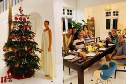 Nhà cổ 80 năm tuổi của Bằng Lăng và chồng Tây mùa Giáng sinh