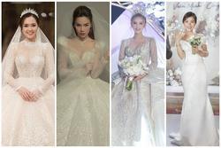 Những chiếc váy cưới đẹp 'xỉu lên xỉu xuống' của các nàng dâu Việt 2020