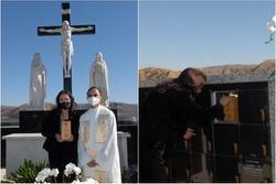Vợ cố nghệ sĩ Chí Tài đưa tro cốt chồng về nghĩa trang