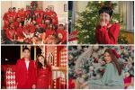 Dàn sao lên đồ đỏ rực đón Noel: Xôn xao nhất là hội bạn 'triệu đô' của Hà Tăng