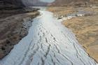 Dòng sông đóng băng cục bộ ở Trung Quốc