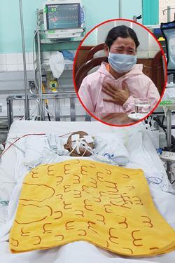 Bé trai 4 tuổi bị dượng lấy kéo đâm xuyên mắt, chấn thương não: Đang thở máy, tiên lượng nặng