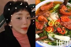 Tóc Tiên 'ăn thả phanh' khi theo chồng ra Hà Nội