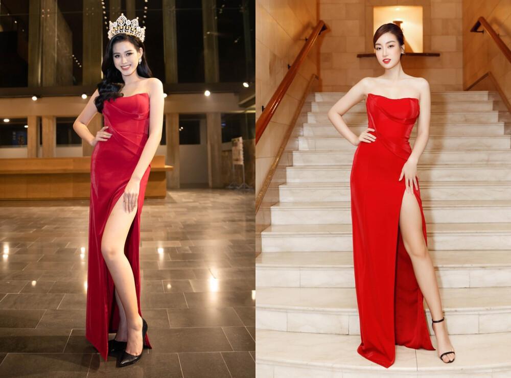 Đỗ Thị Hà đụng hàng váy xẻ cao với Đỗ Mỹ Linh, fan thả tim tới tấp cho cả hai nàng hậu-11