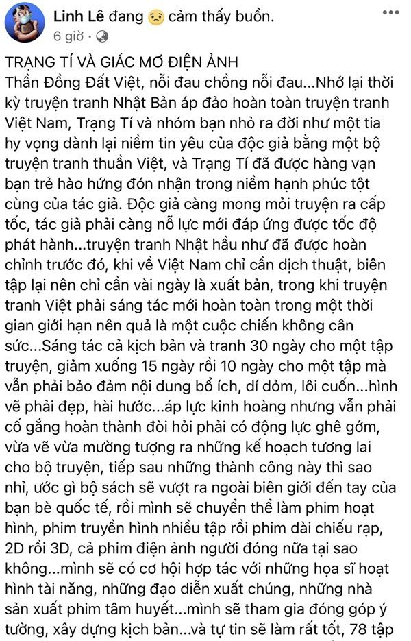 Xung quanh ồn ào với Ngô Thanh Vân, tác giả Trạng Tí lên tiếng: Nỗi đau chồng chất nỗi đau-2