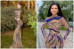 Quỳnh Nga 'Cá sấu chúa' mặc váy bị tố đạo nhái thiết kế nước ngoài
