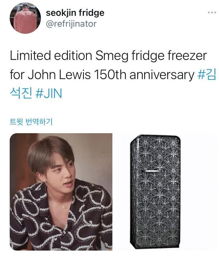 Jin BTS náo loạn mạng xã hội khi bỗng nhiên biến thành...tủ lạnh-7