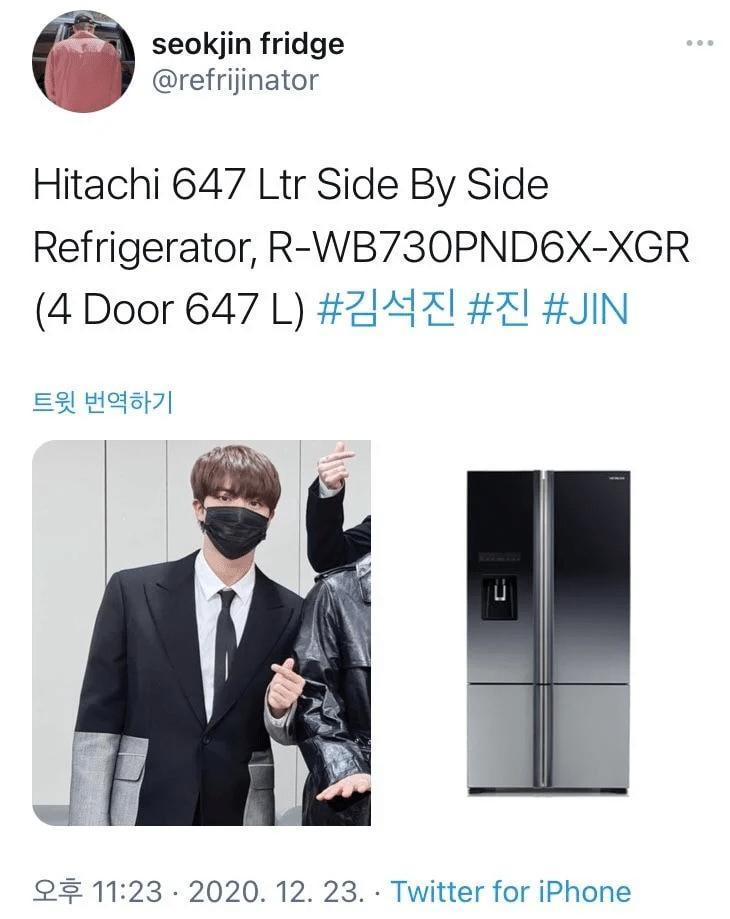 Jin BTS náo loạn mạng xã hội khi bỗng nhiên biến thành...tủ lạnh-10