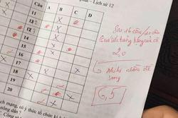 Chấm nhầm đề còn mắng học sinh xối xả, bật cười với lời xin lỗi của cô giáo