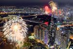 Màn pháo hoa chào đón năm mới tại TP Thủ Đức