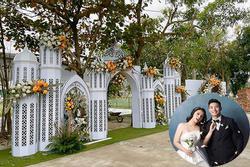 Hé lộ hình ảnh đầu tiên về rạp cưới hoành tráng của Bùi Tiến Dũng và Khánh Linh