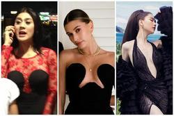 Vợ Justin Bieber diện đầm khoét ngực hiểm hóc na ná váy 'cực phèn' của Lâm Khánh Chi