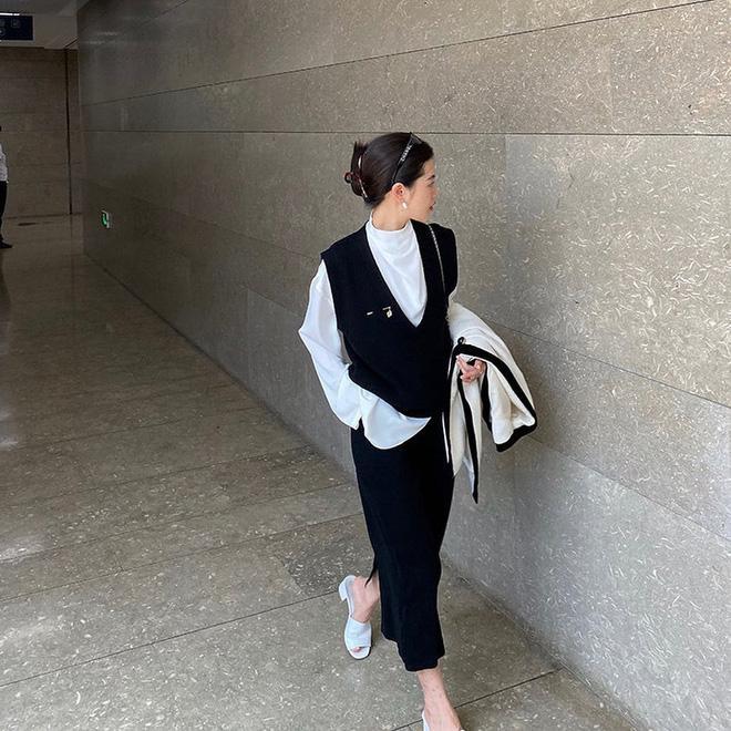 Học Jennie, Rosé BLACKPINK biến hóa phong cách với gile len-10