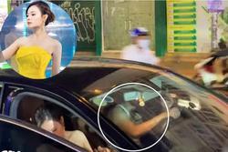 Dân mạng lùng danh tính trai đẹp lái xe hộ tống Midu đi dự sự kiện