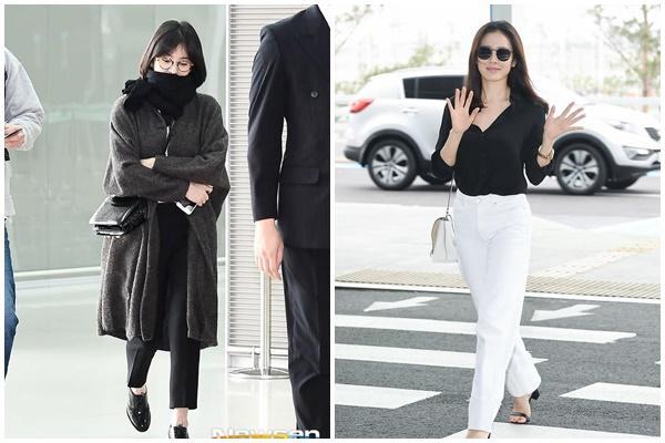 Son Ye Jin hạ đo ván Song Hye Kyo về style sân bay: Người biến sân bay thành sàn diễn, người mãi ăn vận xuề xòa cẩu thả-2