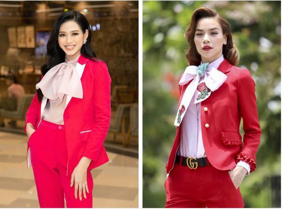 Đỗ Thị Hà giật spotlight nhờ suits đỏ nổi bật, netizen thắc mắc: Ủa sao giống Hà Hồ vậy?-2