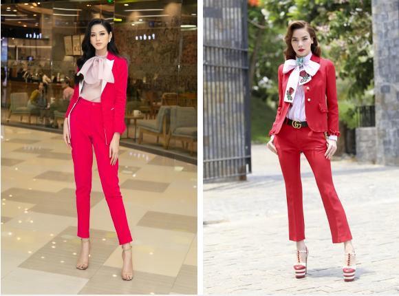 Đỗ Thị Hà giật spotlight nhờ suits đỏ nổi bật, netizen thắc mắc: Ủa sao giống Hà Hồ vậy?-3