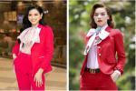 Đỗ Thị Hà 'giật' spotlight nhờ suits đỏ nổi bật, netizen thắc mắc: 'Ủa sao giống Hà Hồ vậy?'