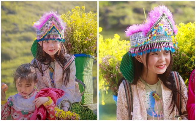 Phát sốt gương mặt bé gái Hà Giang cực xinh bế em bên đường-5