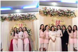 Đỗ Mỹ Linh, Tiểu Vy diện áo bà ba làm phù dâu đám cưới Á hậu Thúy An