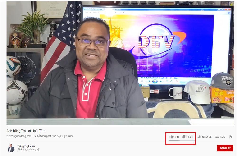 Dũng Taylor dành gần 4 tiếng reaction livestream của Hoài Tâm, lượt dislike cao chóng mặt-1