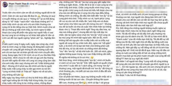 Phạm Thanh Thảo tiết lộ sự thật về vợ Vân Quang Long, phân vân mở tài khoản cho bé Helen-1